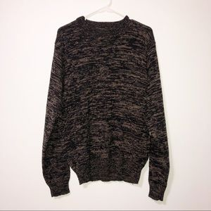 Vintage Willow bay black and tan crew neck sweater